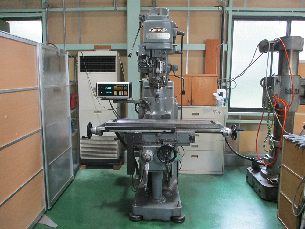 中古機械、フライス盤、工作機械、稼働中、マキノ、静岡県、磐田市