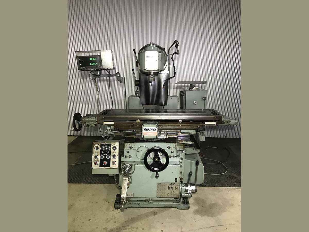 中古機械 万能フライス盤 NIIGATA 工作機械 切断機