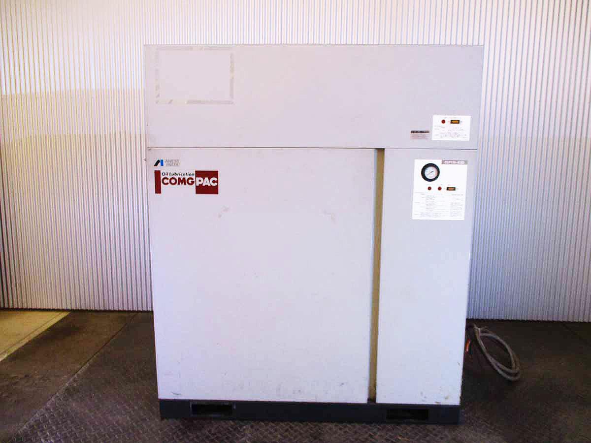 アネスト岩田 パッケージコンプレッサー 15馬力 中古機械 附帯設備